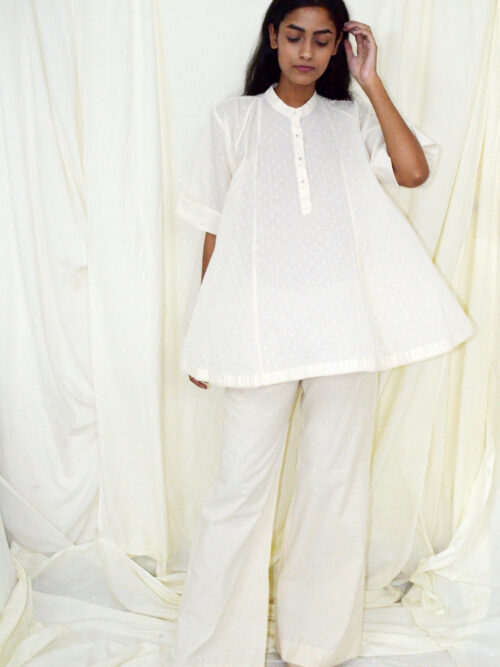 GOLD DOT PANEL TOP WITH SLEEVE