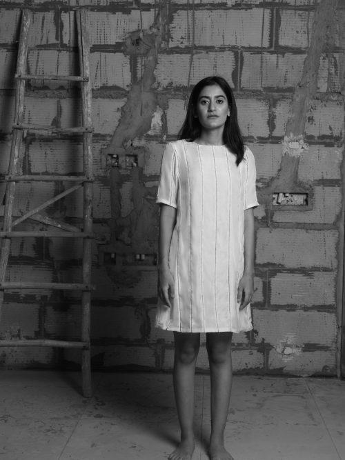 EXQUISITE ZARI PANEL DRESS