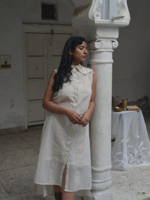 YOKE DETAIL SHIRT DRESS