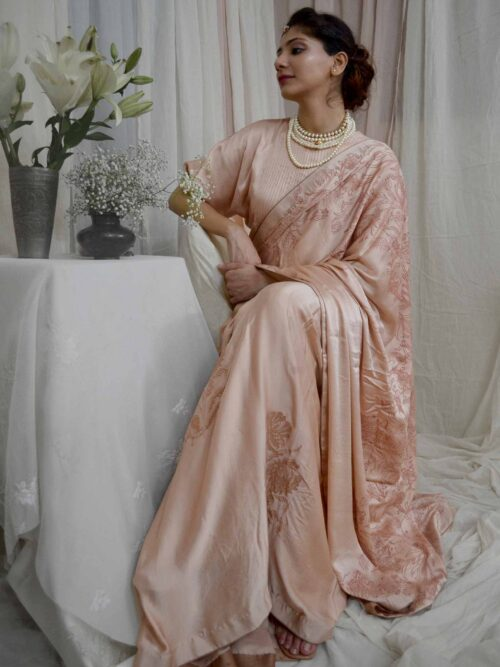 Dreamy Peach Saree