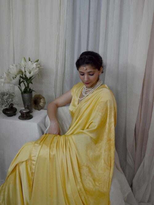 Bold Yellow Saree