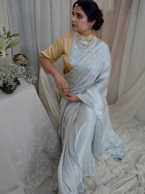 Classy Blue Saree